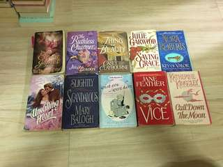 Romance or historical romance novel bundle
