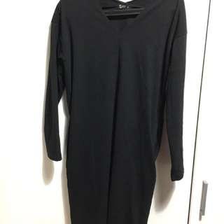 NET棉質全黑洋裝 5/8起限時降價中💛