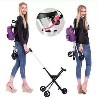 Portable Foldable Easy to Carry Baby Stroller Trolly WITH FREE BABY KNEE PADS