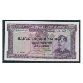 1967年~Banco Nacional Ultramarino 500 Escudos UNC