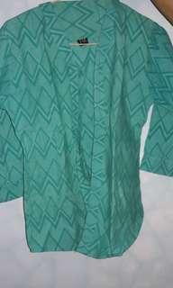 Batik kutu baru hijau tosca