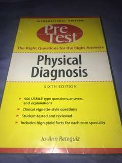 Pretest Physical Diagnosis (NEW, UNOPENED)