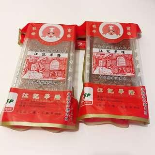 台灣江記華隆 杏仁薄脆豬肉紙薄脆豬肉乾230g