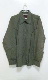 ZARA Long Sleeves for Men Fatigue Green