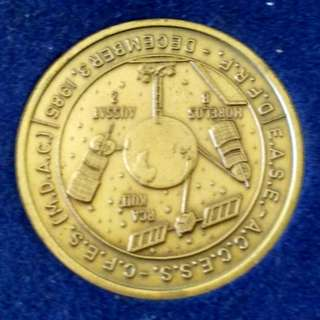SPACE SHUTTLE MEDAL:STS-61B ATLANTIS/EASE-ACCESS-CFES(MDAC),DFRF-1985