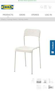 Ikea ADDE Chair White