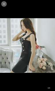 Bodycon sexy strap mini dress