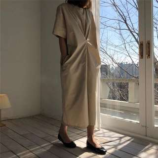 Korean design lazy pocket dress