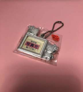 Hello kitty photo frame key chain