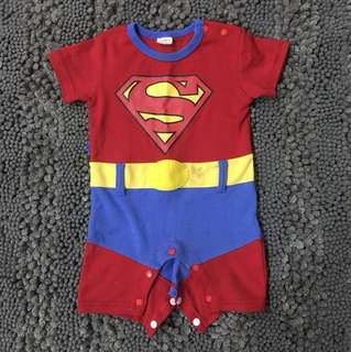 Little boy Superman Romper 1-2 tahun