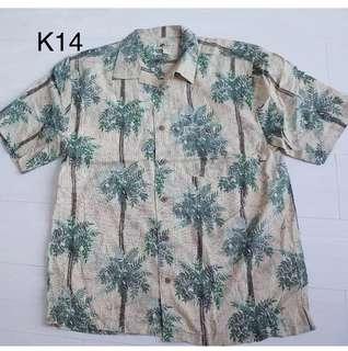 5/8 Vintage- 夏威夷 海島風情 一起去海邊吧 短袖襯衫