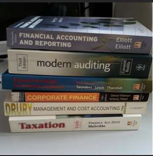 Textbooks/Reference books Accounting/Finance/Tax/Audit/Financial/Management/Corporate Finance etc