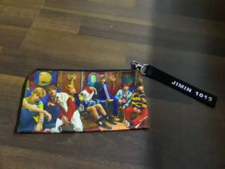 Jimin pencil case with jimin landyard