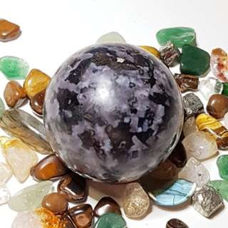 Indigo Gabbro (Mystic Merlinite) ball / sphere / orb for physical cleansing, clairvoyance, clairaudience, clairsentience #971