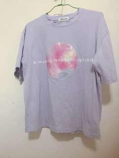 🚚 小星球淺紫短袖上衣