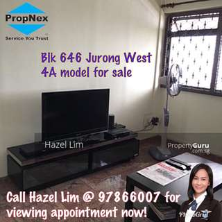 Blk 646 Jurong West 4A flat for sale