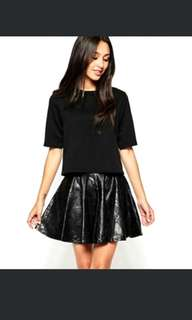 Asos Vegan Leather Skirt S/M