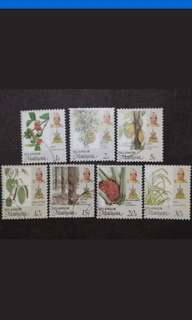 Malaysia 1986 Selangor Agro-Based Products Complete Set - 7v Mix MNH & Used Stamps #2
