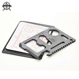 🚚 Stainless Steel Multi Functional Survival Pocket Card Tool