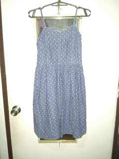 So Polkadot Denim-like Dress