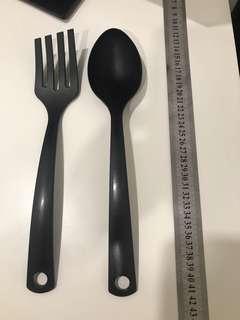 Ikea plastic saladspoon and fork