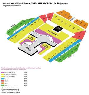 SELLING WANNA ONE IN SG STANDING PEN C TICKETSX2
