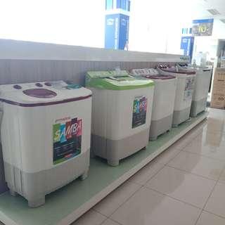 Mesin cuci 2 tabung bisa kredit