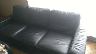 Free leather sofa to a good home
