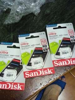 Sandisk記憶卡 64g