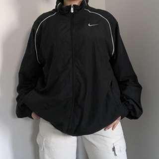 Nike Black/White Windbreaker Jacket Size L