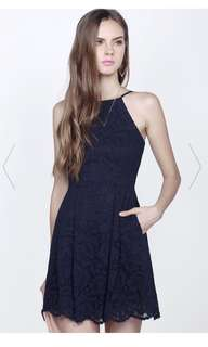 Fayth Hayley Dress in Navy