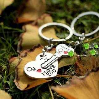 Key To My Heart Couple Keychain Set