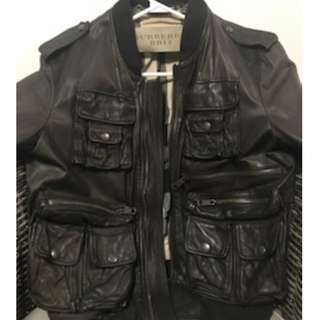 Authentic  Mens Burberry Leather Jacket MEDIUM
