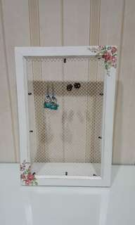 Earrings holder shabby chic
