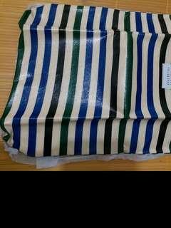 雜誌袋-藍綠色間條袋