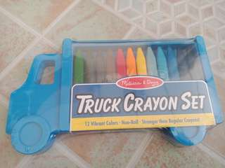Melissa & Doug Truck Crayon Set 12 ct
