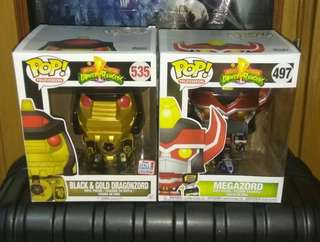 "[PRE-ORDER] Dragonzord Black & Gold and Megazord Metallic 6"" Power Rangers Funko Pop Bundle"