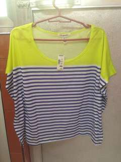 green and blue stripes top ( aeropostale)