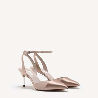 Pedro pointed ankle strap heels