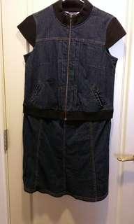 🚚 二手歐歐米妮ohoh-mini牛仔短袖孕婦洋裝連身裙
