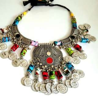 Oxidised multicolor necklace