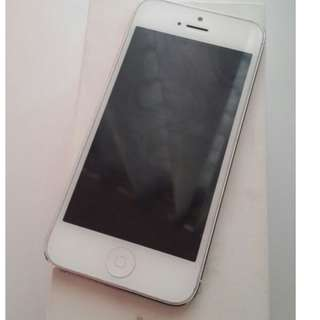 Jual iphone 5 16GB white Second