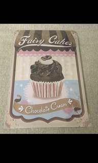 Sale 👯♂️Fairy cakes Chocolate cream  tin sign signage 20x30cm