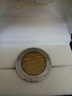 Uang logam 1000 tahun 1996