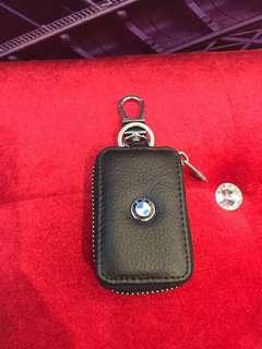 🚚 真牛皮名牌鑰匙包-BMW