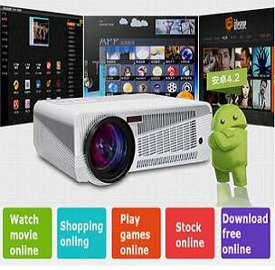 *DISPLAY SET* HD 1280X800, 3000 LUMENS ANDROID PROJECTOR