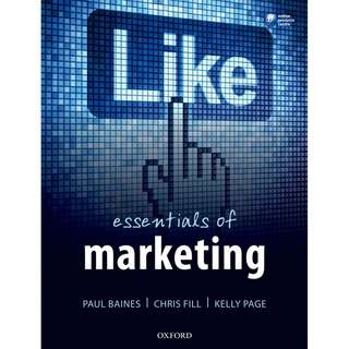 Essentials of Marketing 1st First Edition by Paul Baines, Chris Fill, Kelly Page - Oxford University Press