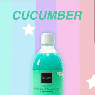 Shower Scrub Cucumber Scarlett Whitening