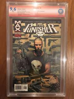 Punisher Max Marvel Comics #1 CBCS 9.6 Signature Series signed by Tim Bradstreet Not CGC
