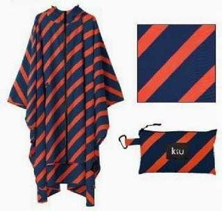 【 柒玖捌零日貨精品 】《 現貨 》日本全新正品 KIU 雨衣 防水雨衣 風衣式雨衣 斗蓬雨衣 橘色/藍色 散狀 輕量